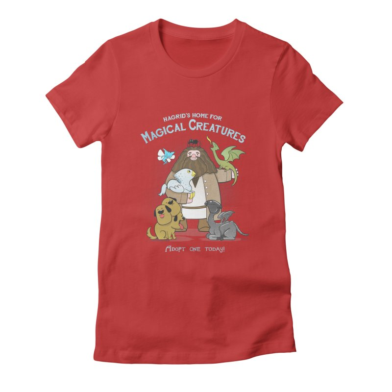 Hagrid's Home for Magical Creatures Women's Fitted T-Shirt by The Art of Anna-Maria Jung