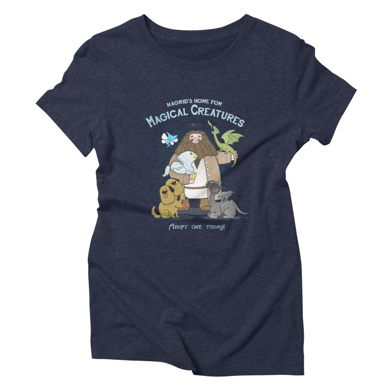 Hagrid's Home for Magical Creatures Women's Triblend T-shirt by The Art of Anna-Maria Jung
