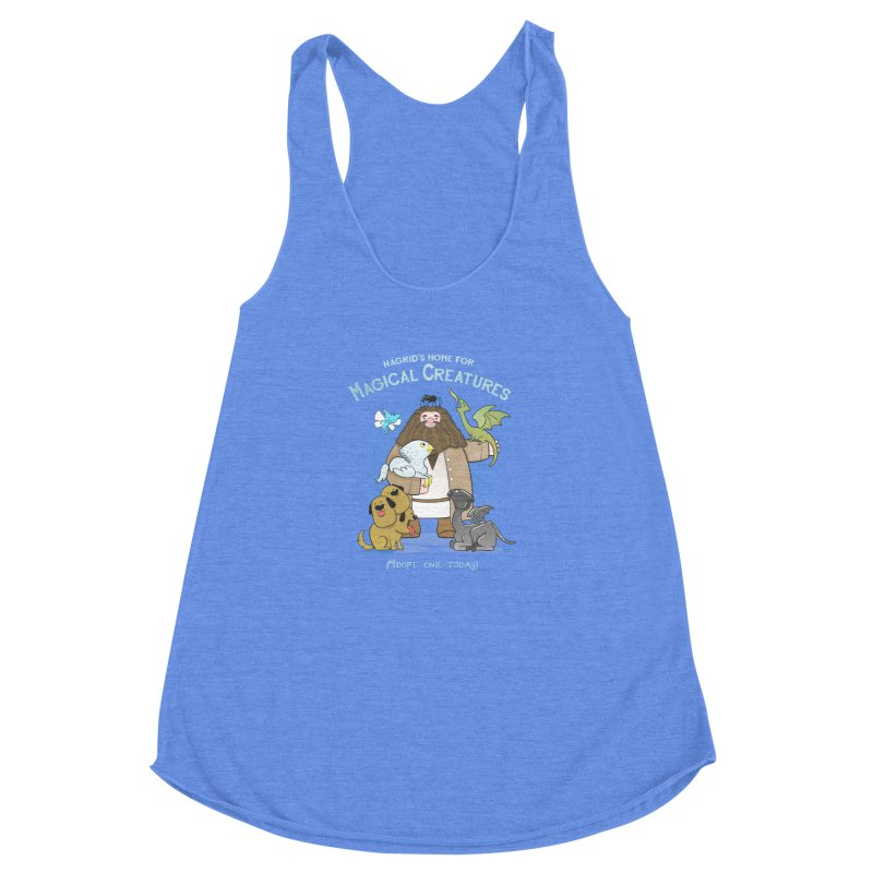 Hagrid's Home for Magical Creatures Women's Racerback Triblend Tank by The Art of Anna-Maria Jung