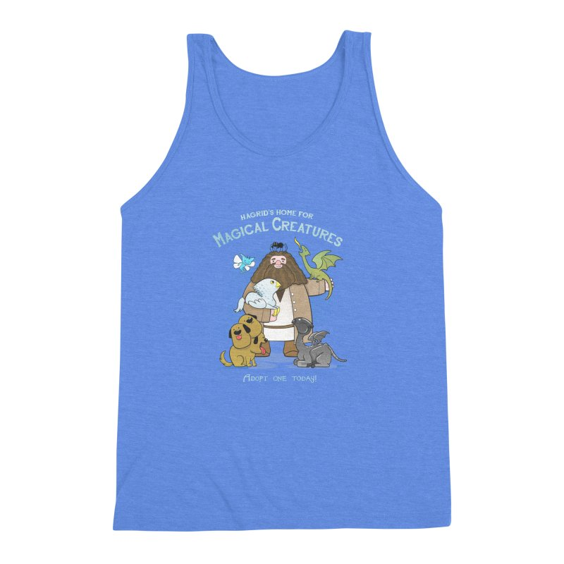 Hagrid's Home for Magical Creatures Men's Triblend Tank by The Art of Anna-Maria Jung