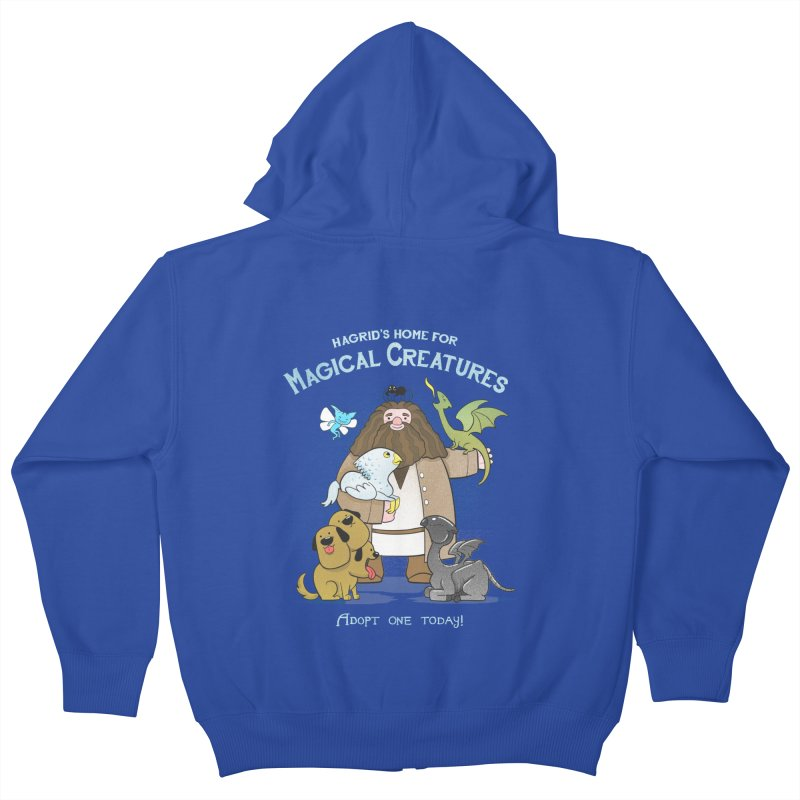 Hagrid's Home for Magical Creatures Kids Zip-Up Hoody by The Art of Anna-Maria Jung
