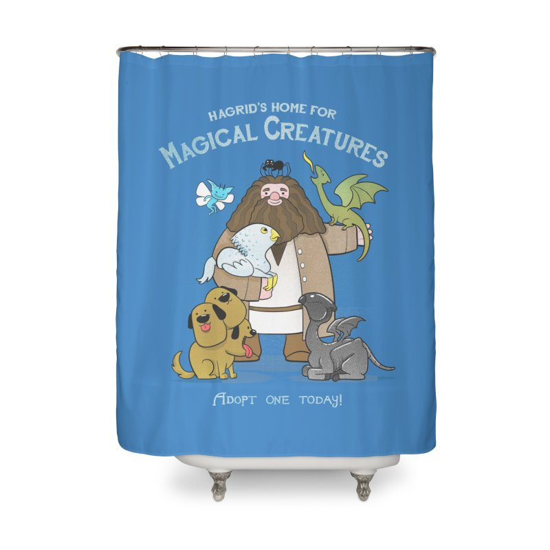 Hagrid's Home for Magical Creatures Home Shower Curtain by The Art of Anna-Maria Jung