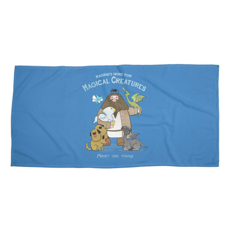 Hagrid's Home for Magical Creatures Accessories Beach Towel by The Art of Anna-Maria Jung