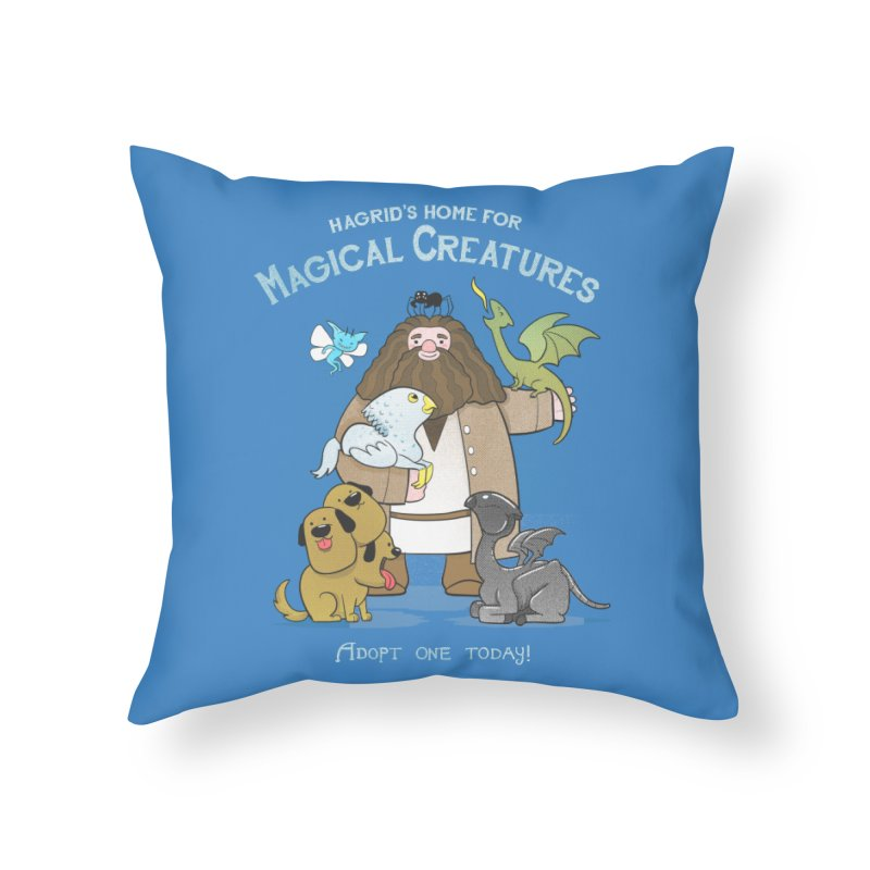 Hagrid's Home for Magical Creatures Home Throw Pillow by The Art of Anna-Maria Jung