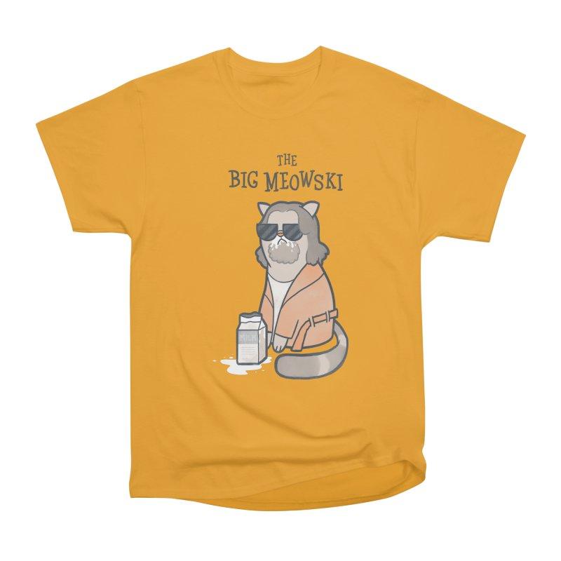 The Big Meowski Women's Heavyweight Unisex T-Shirt by The Art of Anna-Maria Jung