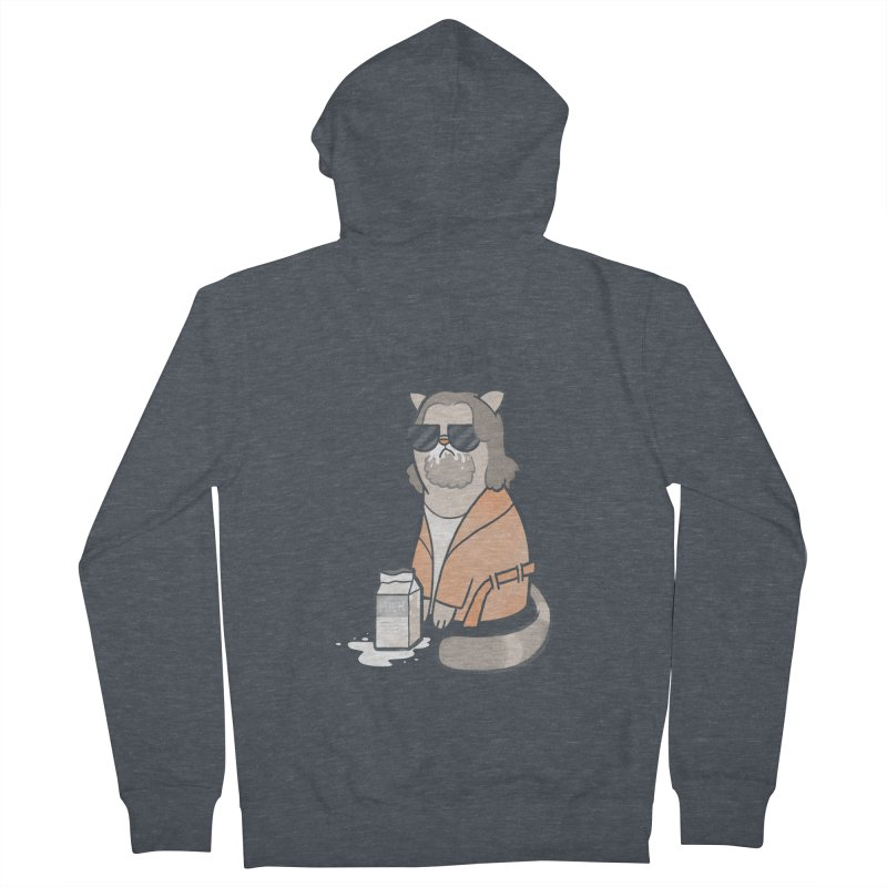 The Big Meowski Men's French Terry Zip-Up Hoody by The Art of Anna-Maria Jung
