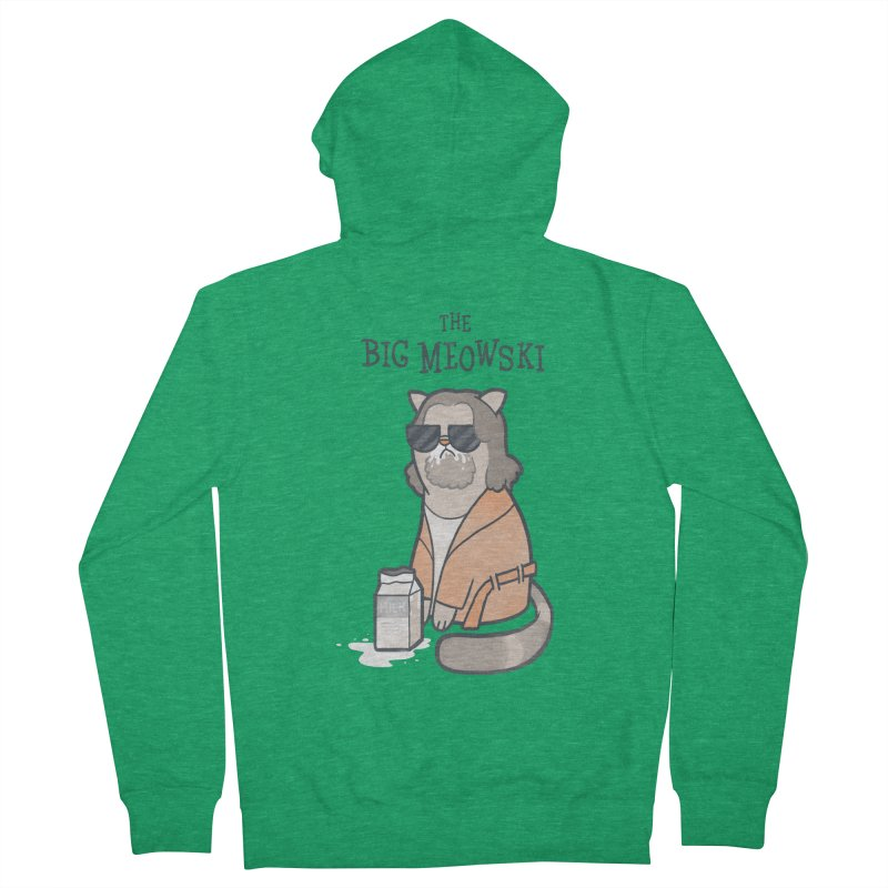 The Big Meowski Men's Zip-Up Hoody by The Art of Anna-Maria Jung