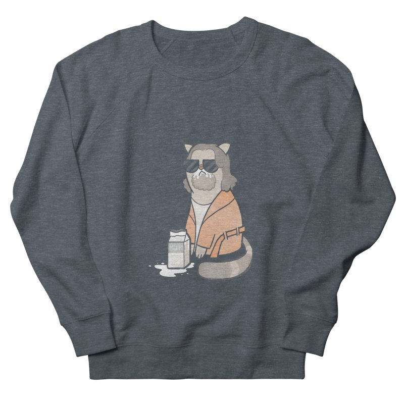 The Big Meowski Women's French Terry Sweatshirt by The Art of Anna-Maria Jung