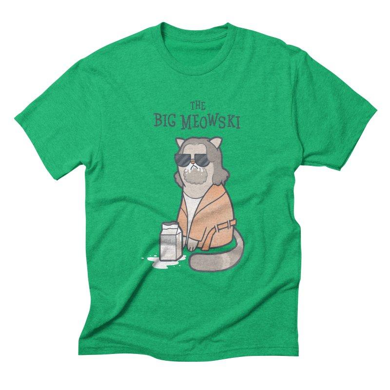 The Big Meowski Men's Triblend T-shirt by The Art of Anna-Maria Jung