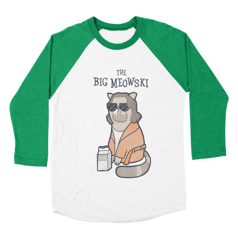 The Big Meowski Women's Baseball Triblend T-Shirt by The Art of Anna-Maria Jung