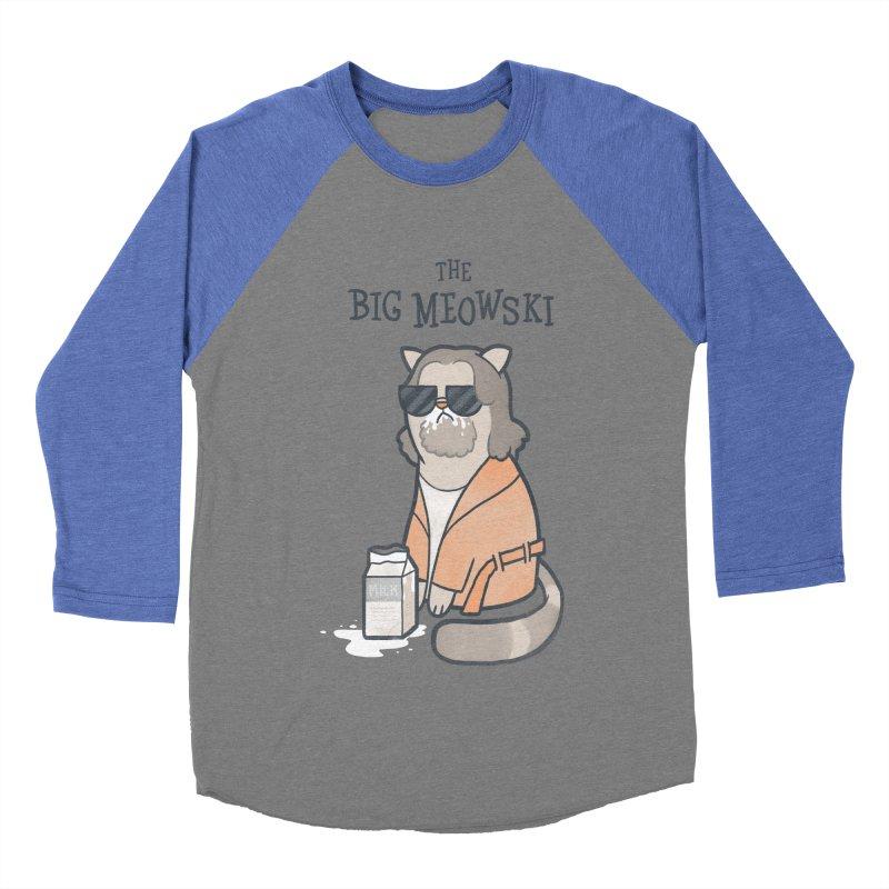 The Big Meowski Women's Baseball Triblend Longsleeve T-Shirt by The Art of Anna-Maria Jung