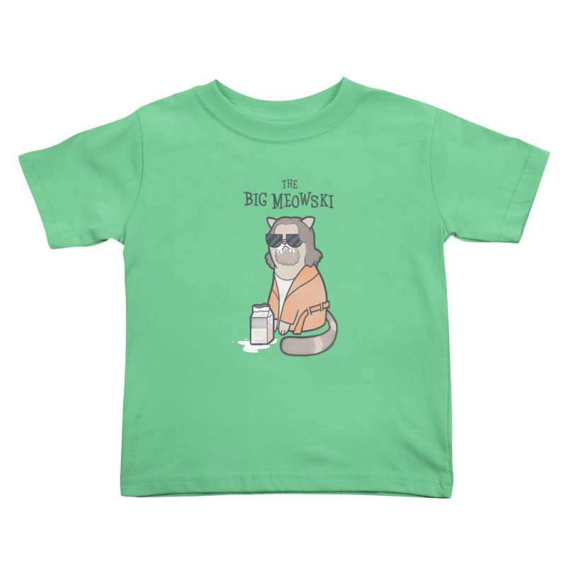 The Big Meowski Kids Toddler T-Shirt by The Art of Anna-Maria Jung