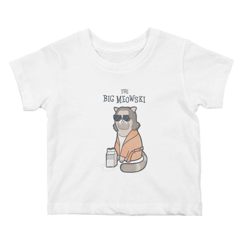 The Big Meowski Kids Baby T-Shirt by The Art of Anna-Maria Jung