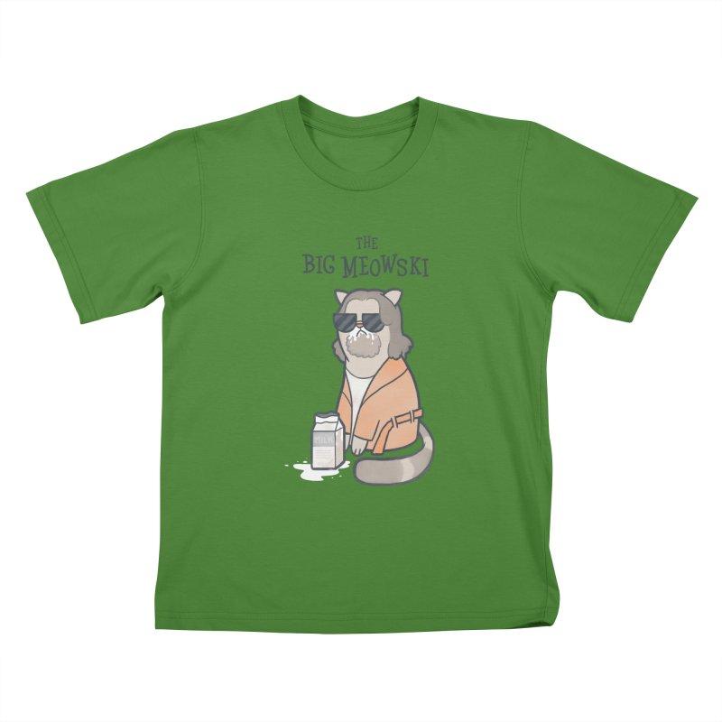 The Big Meowski Kids T-Shirt by The Art of Anna-Maria Jung