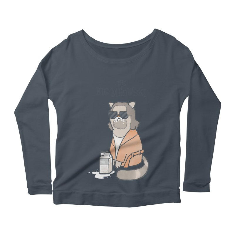 The Big Meowski Women's Scoop Neck Longsleeve T-Shirt by The Art of Anna-Maria Jung