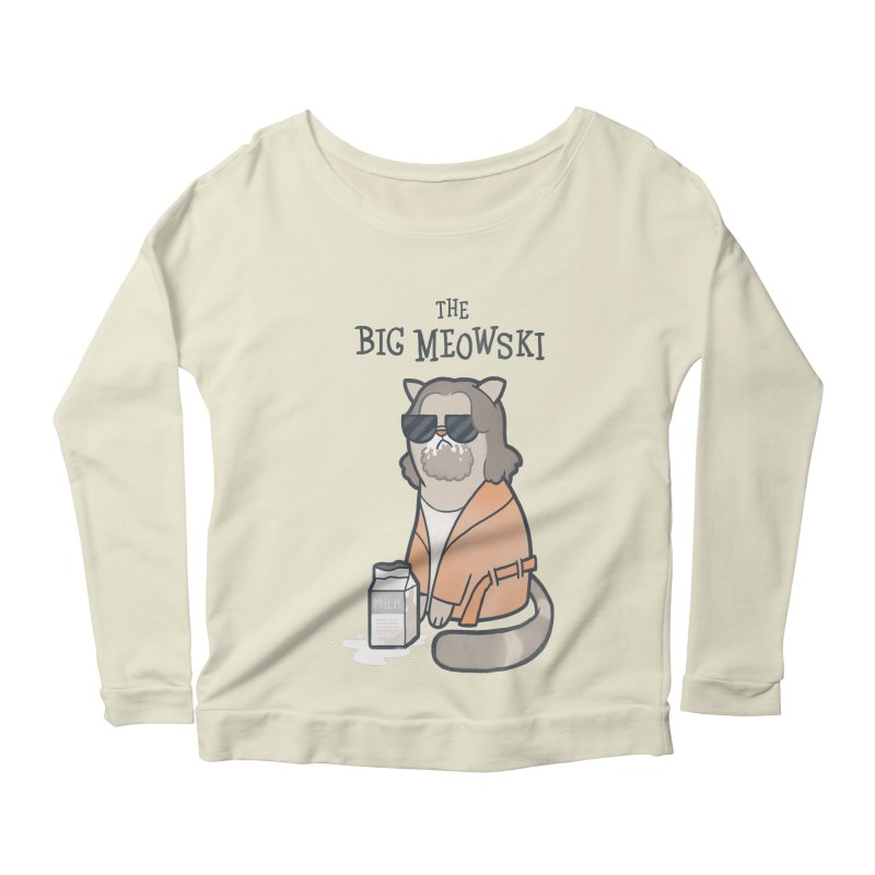 The Big Meowski Women's Longsleeve Scoopneck  by The Art of Anna-Maria Jung