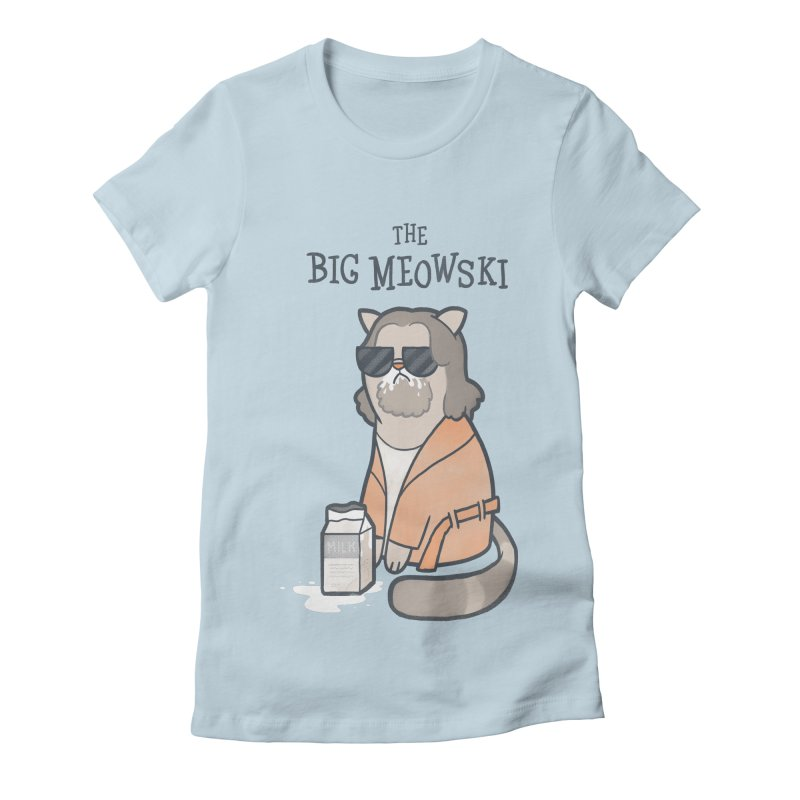 The Big Meowski Women's Fitted T-Shirt by The Art of Anna-Maria Jung