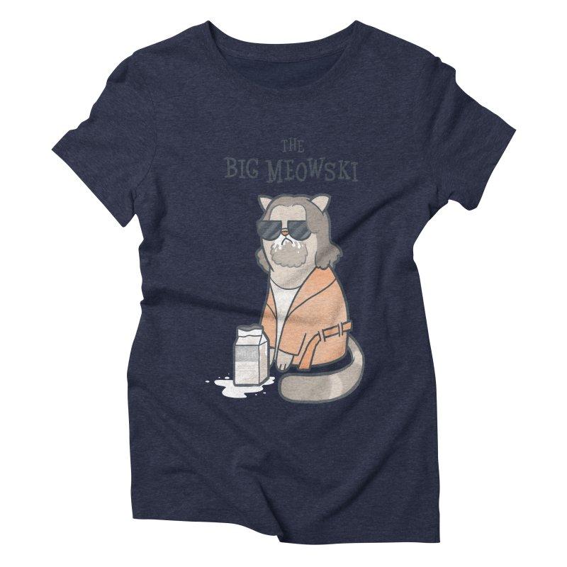 The Big Meowski Women's Triblend T-shirt by The Art of Anna-Maria Jung