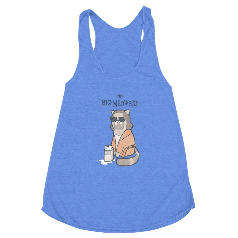 The Big Meowski Women's Racerback Triblend Tank by The Art of Anna-Maria Jung
