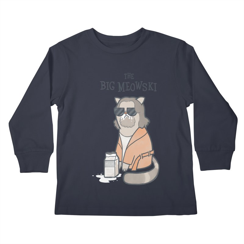 The Big Meowski Kids Longsleeve T-Shirt by The Art of Anna-Maria Jung