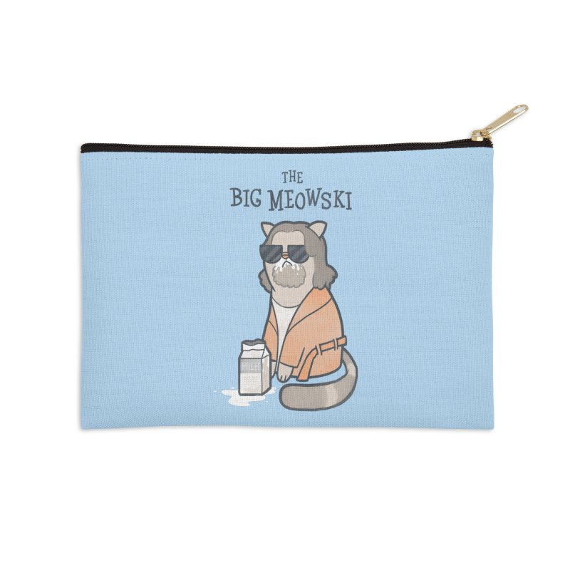 The Big Meowski Accessories Zip Pouch by The Art of Anna-Maria Jung