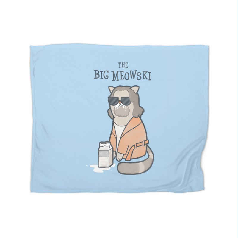 The Big Meowski Home Fleece Blanket by The Art of Anna-Maria Jung