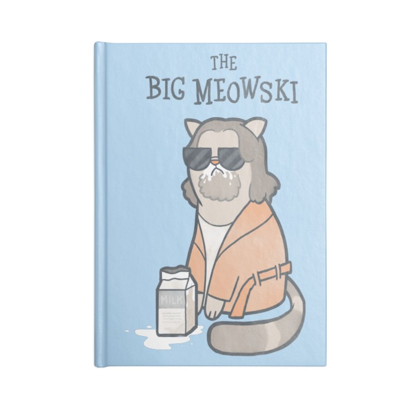 The Big Meowski Accessories Notebook by The Art of Anna-Maria Jung