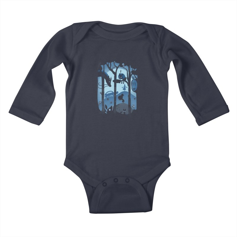 Magical Gathering Kids Baby Longsleeve Bodysuit by The Art of Anna-Maria Jung