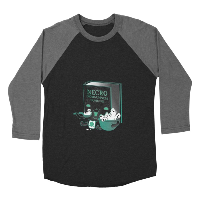 Necronomnomnomicon Men's Baseball Triblend T-Shirt by The Art of Anna-Maria Jung