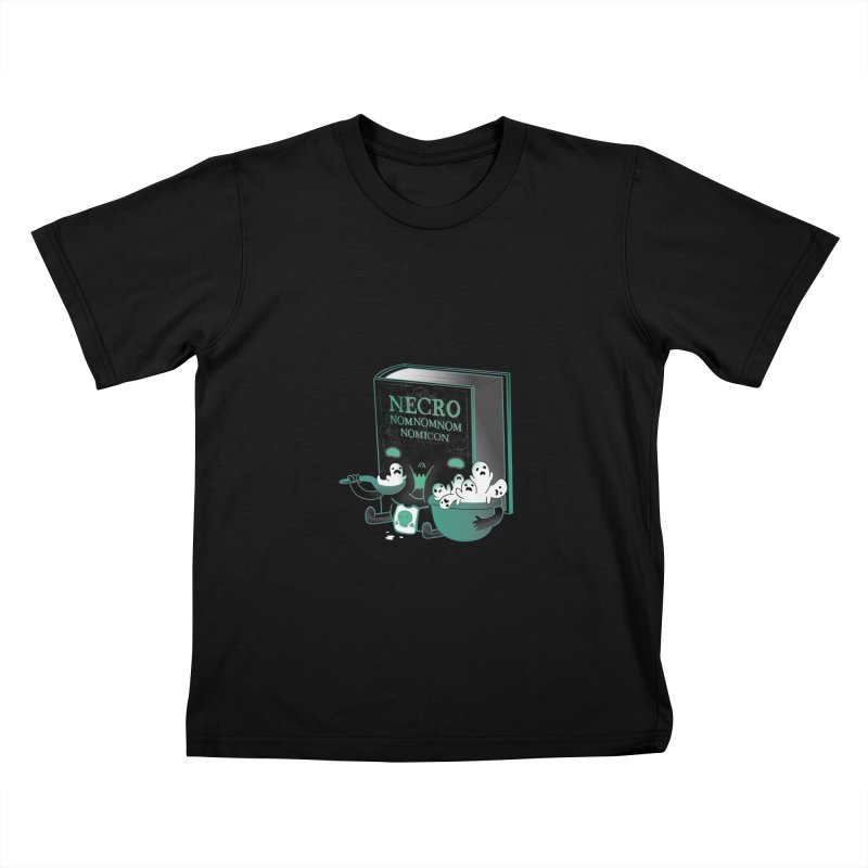 Necronomnomnomicon Kids T-Shirt by The Art of Anna-Maria Jung