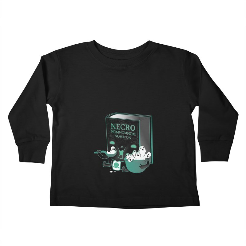 Necronomnomnomicon Kids Toddler Longsleeve T-Shirt by The Art of Anna-Maria Jung