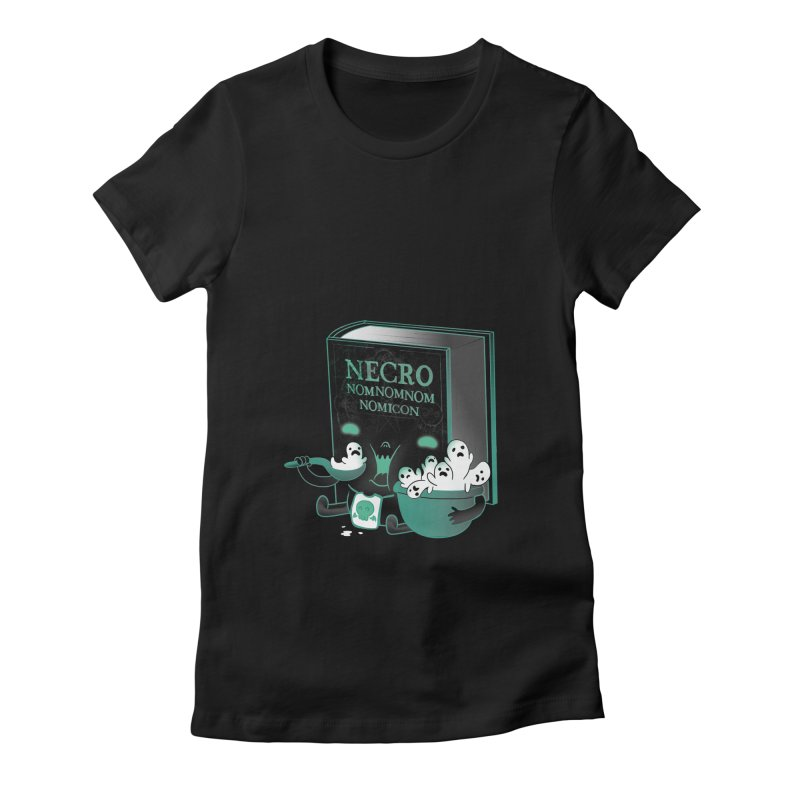 Necronomnomnomicon Women's Fitted T-Shirt by The Art of Anna-Maria Jung