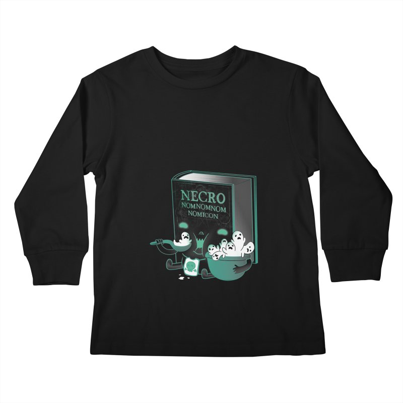 Necronomnomnomicon Kids Longsleeve T-Shirt by The Art of Anna-Maria Jung
