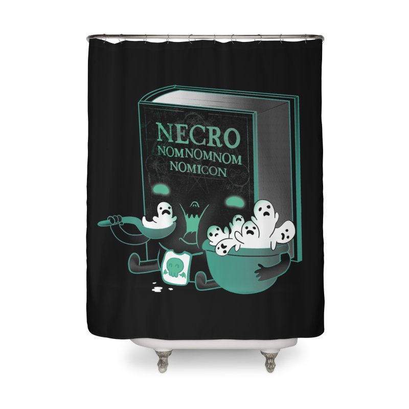 Necronomnomnomicon Home Shower Curtain by The Art of Anna-Maria Jung