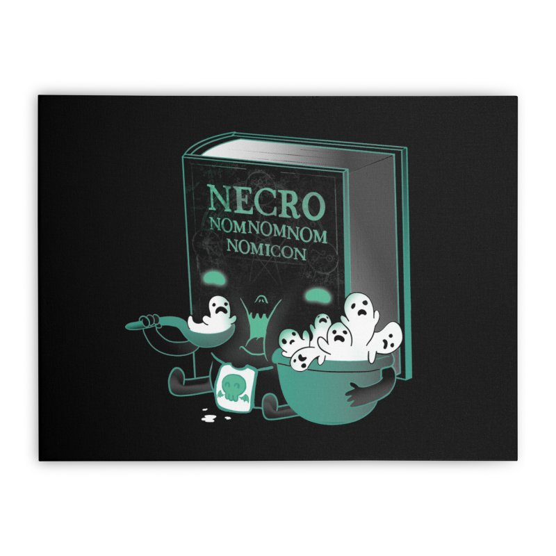 Necronomnomnomicon Home Stretched Canvas by The Art of Anna-Maria Jung
