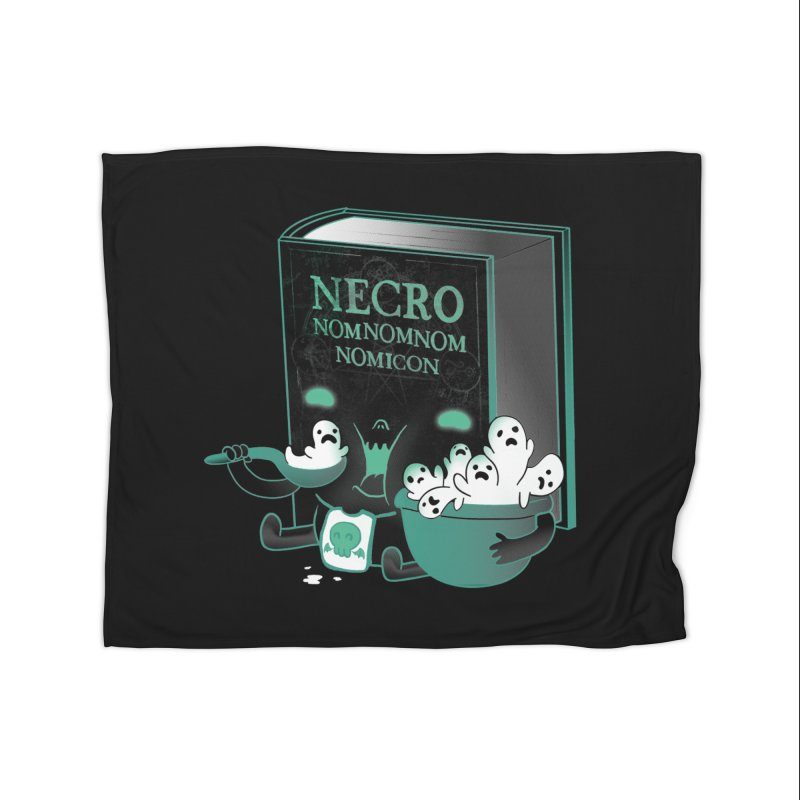 Necronomnomnomicon Home Fleece Blanket by The Art of Anna-Maria Jung