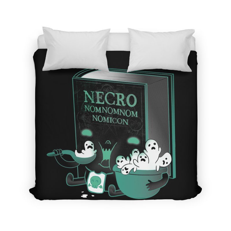 Necronomnomnomicon Home Duvet by The Art of Anna-Maria Jung