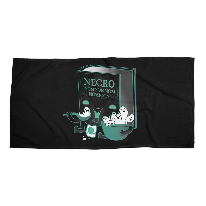 Necronomnomnomicon Accessories Beach Towel by The Art of Anna-Maria Jung