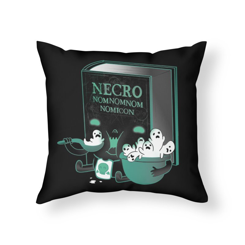 Necronomnomnomicon Home Throw Pillow by The Art of Anna-Maria Jung