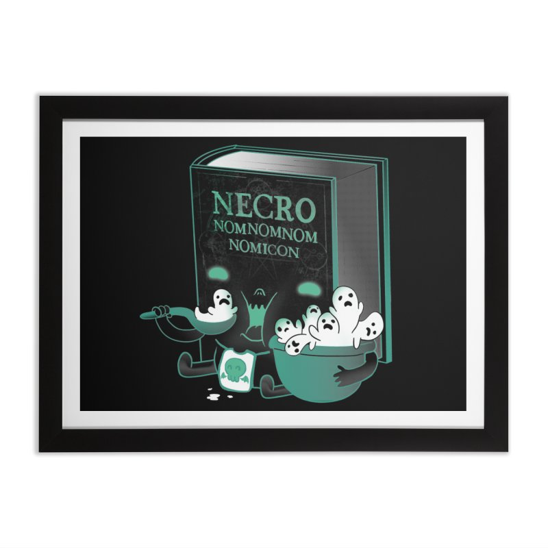 Necronomnomnomicon Home Framed Fine Art Print by The Art of Anna-Maria Jung