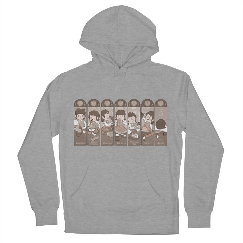 The Seven Daily Meals Men's French Terry Pullover Hoody by The Art of Anna-Maria Jung