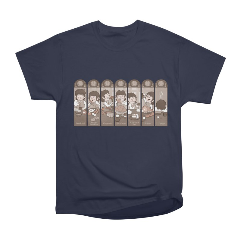 The Seven Daily Meals Men's Heavyweight T-Shirt by The Art of Anna-Maria Jung