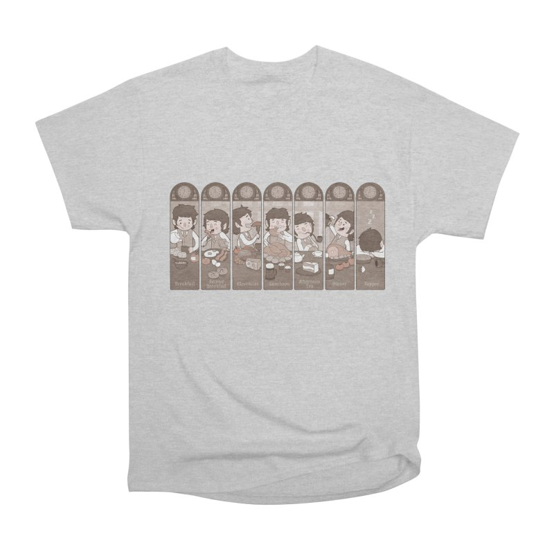The Seven Daily Meals Women's Heavyweight Unisex T-Shirt by The Art of Anna-Maria Jung
