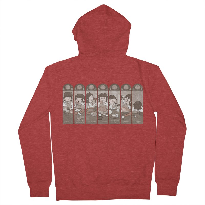 The Seven Daily Meals Men's Zip-Up Hoody by The Art of Anna-Maria Jung