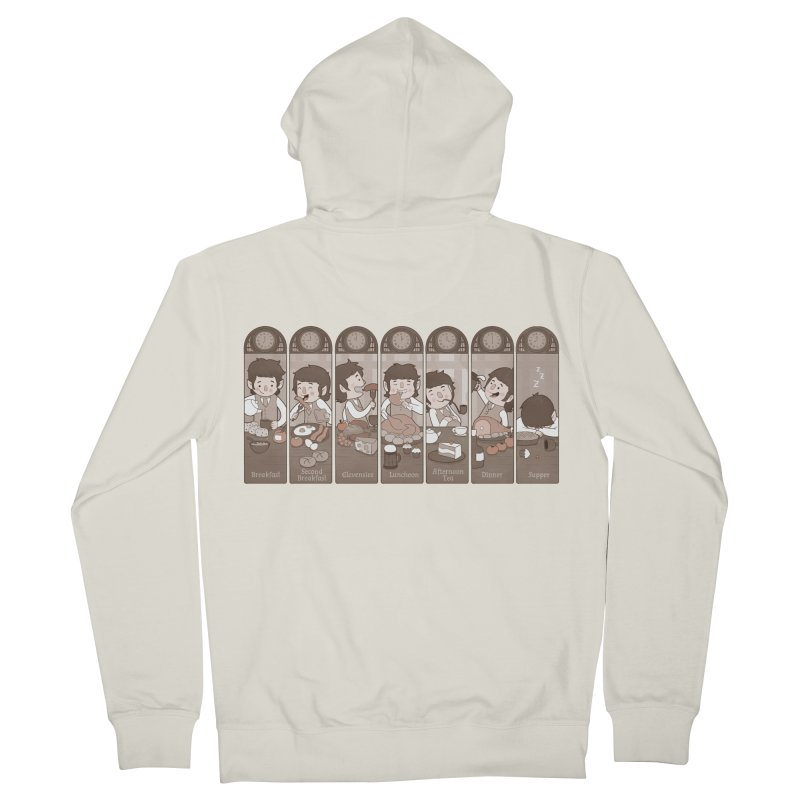 The Seven Daily Meals Men's French Terry Zip-Up Hoody by The Art of Anna-Maria Jung
