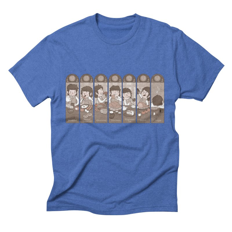 The Seven Daily Meals Men's Triblend T-Shirt by The Art of Anna-Maria Jung