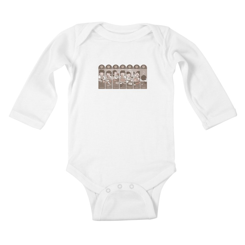 The Seven Daily Meals Kids Baby Longsleeve Bodysuit by The Art of Anna-Maria Jung