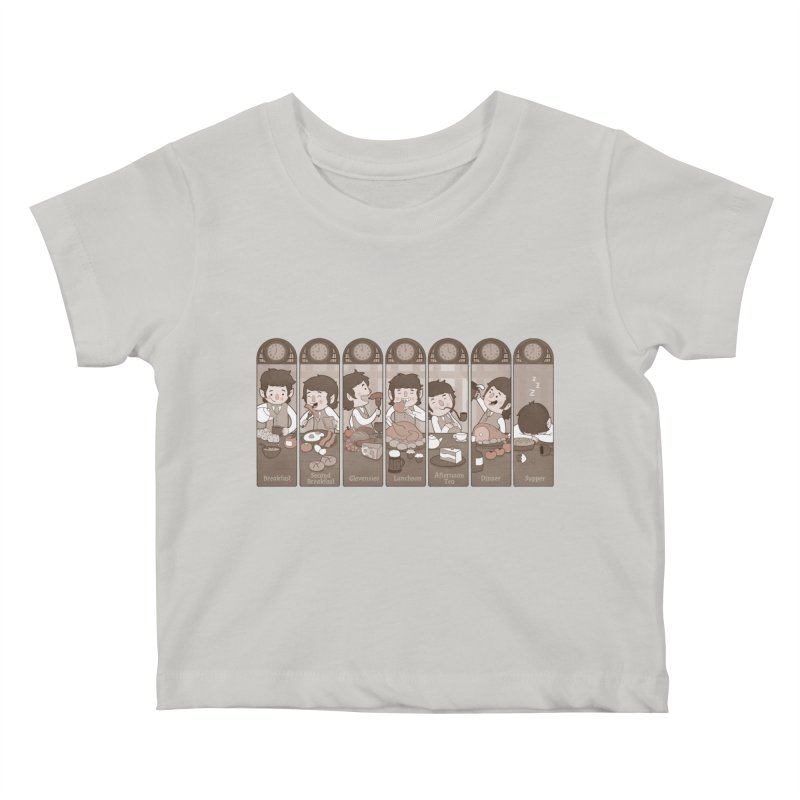The Seven Daily Meals Kids Baby T-Shirt by The Art of Anna-Maria Jung