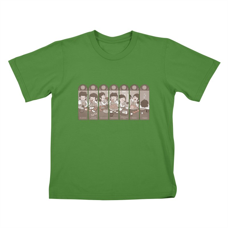The Seven Daily Meals Kids T-Shirt by The Art of Anna-Maria Jung