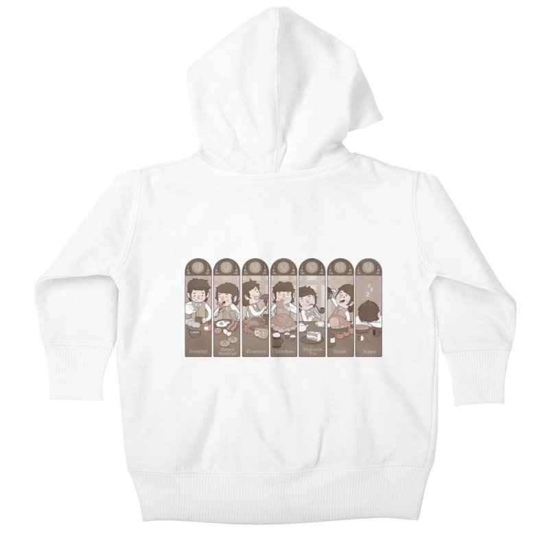 The Seven Daily Meals Kids Baby Zip-Up Hoody by The Art of Anna-Maria Jung